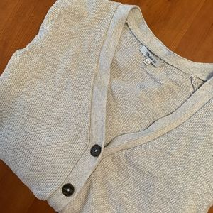 Madewell light gray cozy buttoned cardigan sweater